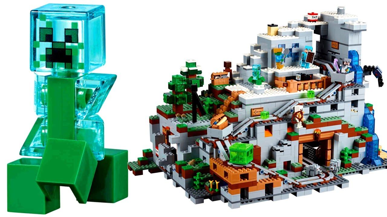 Лего Майнкрафт Горная пещера 21137 Видео LEGO Minecraft ...