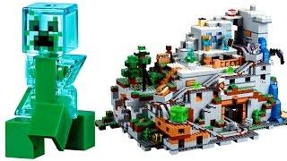 Лего Майнкрафт Гірська печера 21137 Відео огляд LEGO Minecraft 2017 The Mountain Cave
