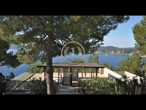 First sea line luxury property with sea access for sale on Ibiza - Luxury Villas Ibiza