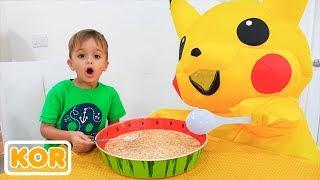 거대한 장난감으로 블라드와 니키타 어린이 아침 일상 이야기