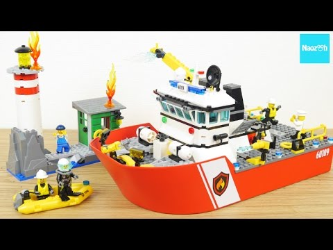 Fire Boat Brand New LEGO City Fire 60109