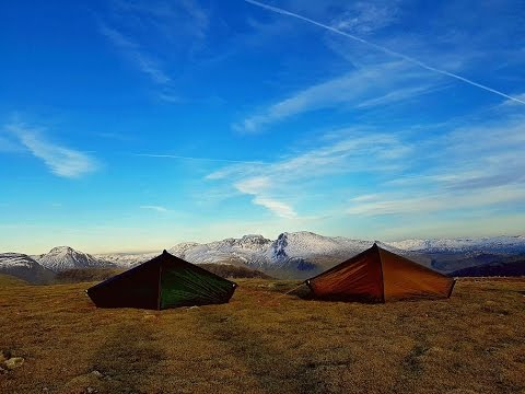 Seatallan Wild Camp English Lake District Hilleberg Akto's March 17'