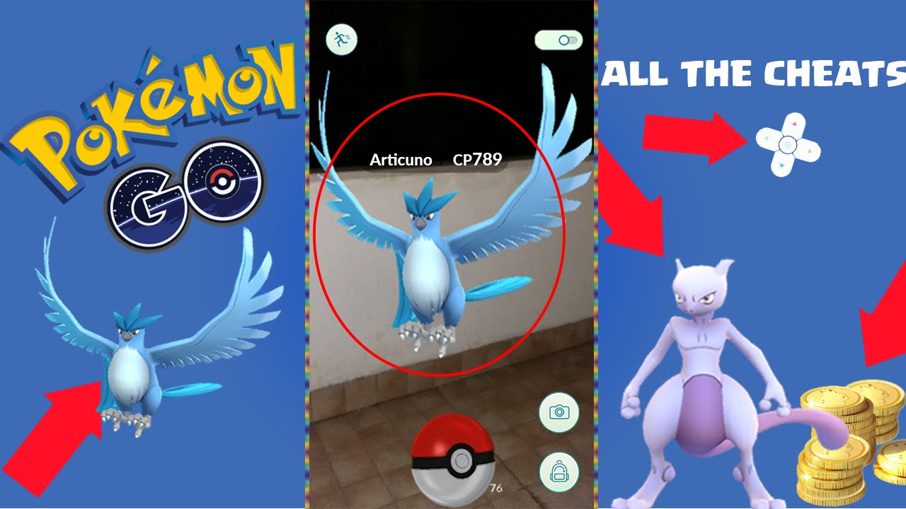 POKEMON GO CHEAT+HOW TO CATCH ARTICUNO AND MEWTWO TUTORIAL! NEW ...