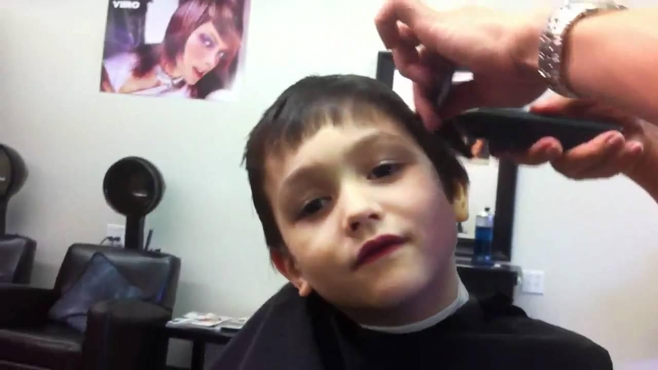 Kids Getting Hair Cuts