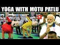 Motu Patlu Doing Yoga with PM Narendra Modi l Motu Patlu l International Yog Divas 2019 l Yoga