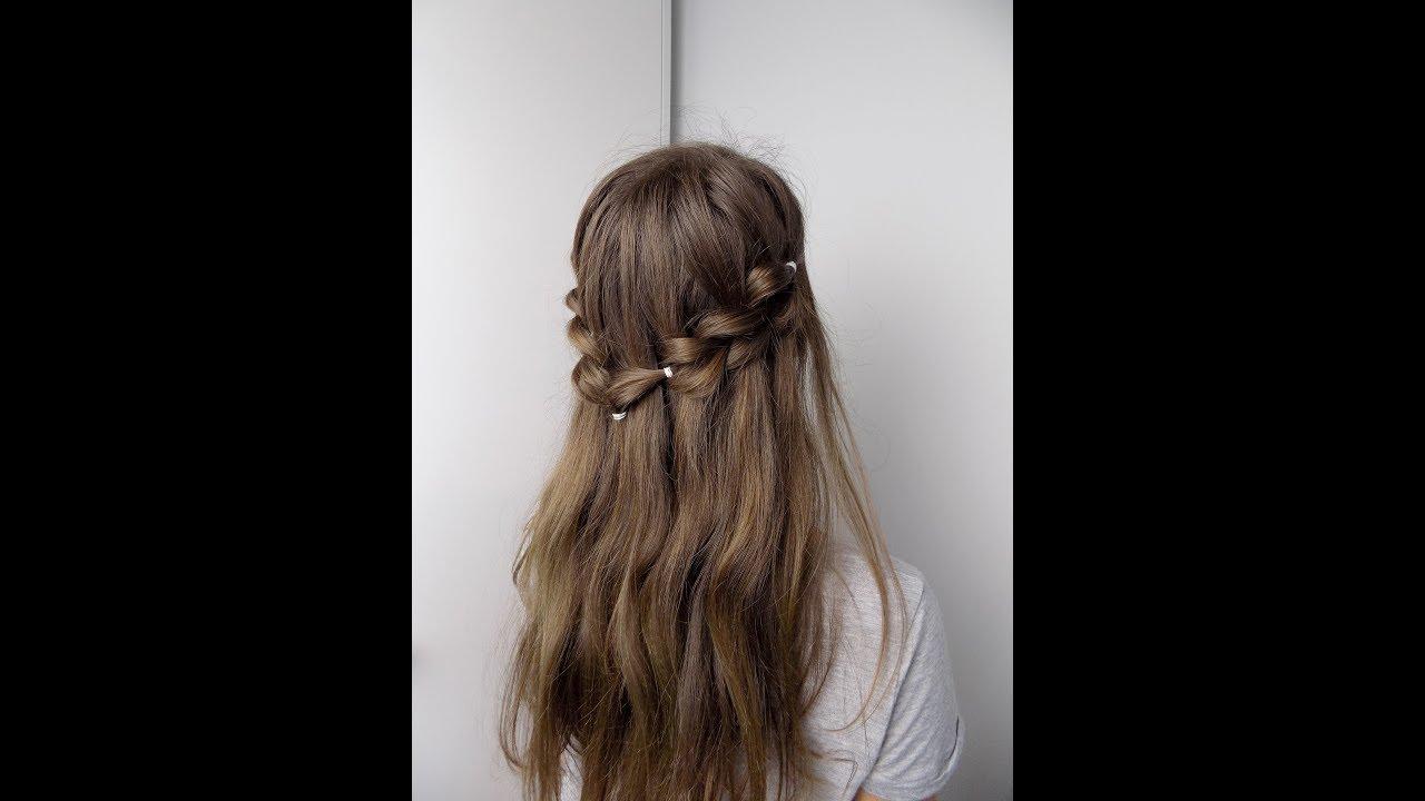 Fryzura Na Rozpoczęcie Roku Szkolnego Wodospad Z Powyciąganych Kitek Hairstyles