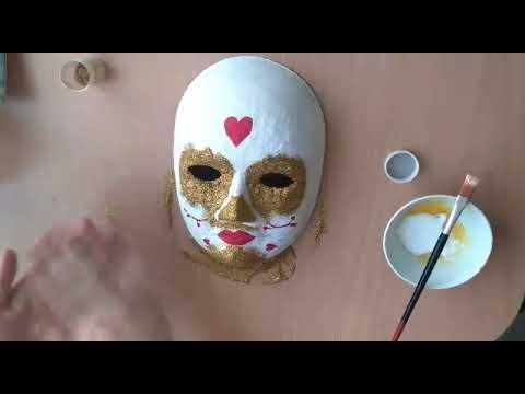 Acrylic Painting Maske Boyama 2 Kolay Resim Yapimi Ve Boyama