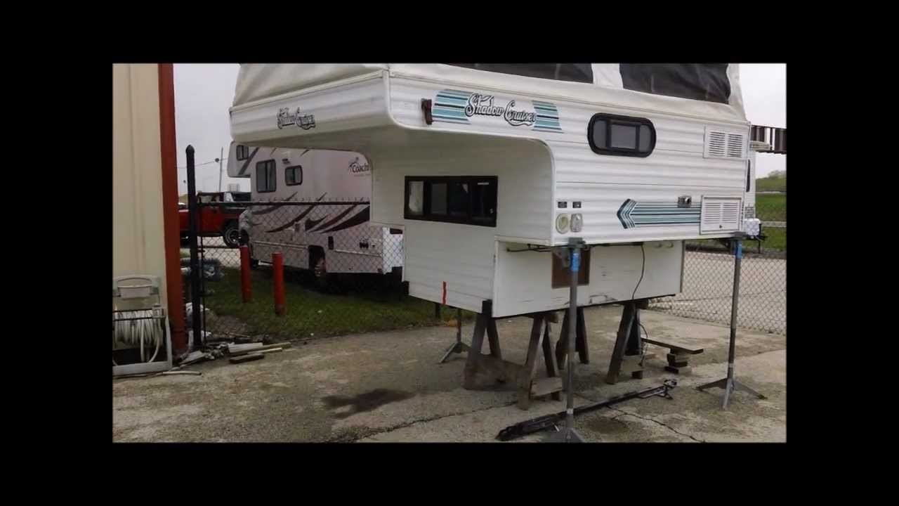 1996 Shadow Cruiser 7 Slide In Pop Up Truck Camper Youtube