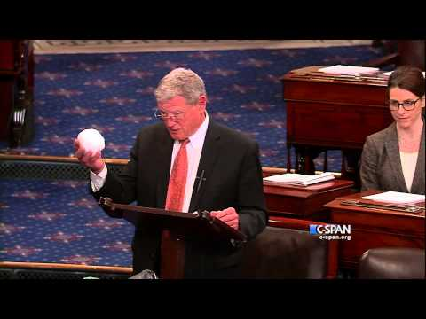 Sen. James Inhofe (R-OK) Snowball in the Senate (C-SPAN) video
