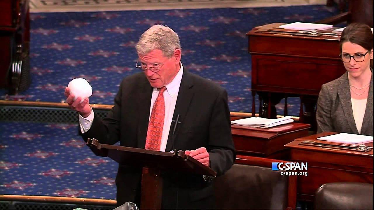 Sen. James Inhofe (R-OK) Snowball in the Senate (C-SPAN) - YouTube