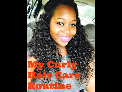 How I Care for my Curly Hair Weave | Daily Routine | Ace Virgin Hair