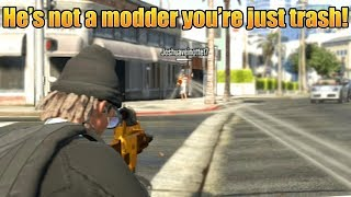 """""""He's not a modder you're just trash!"""" (GTA 5 Online)"""