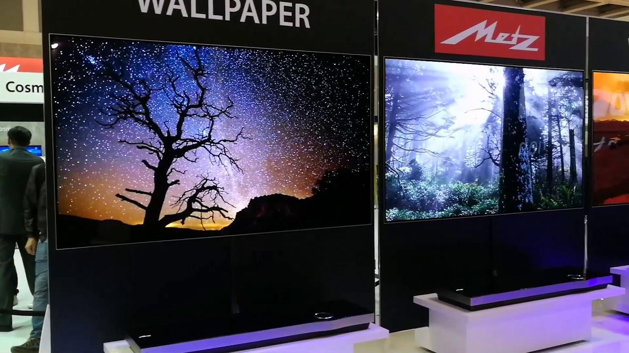 Skyworth Metz OLED wallpaper TV - YouTube
