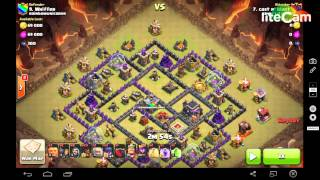 Shattered Surgical Hogs GOHO. Dragon Flower Base. TH9 3 Stars! Clash of Clans