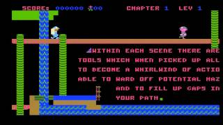 whistler's brother title screen for Atari 8-bit