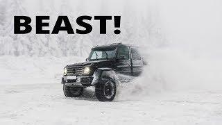 DRIFTING a Mercedes G500 4x4 on SNOW!