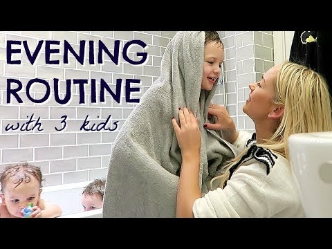 EVENING ROUTINE OF A MOM / MUM WITH 3 KIDS ALONE  |  BEDTIME ROUTINE  |  EMILY NORRIS