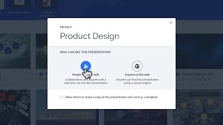 Prezi tutorial: How to set your privacy