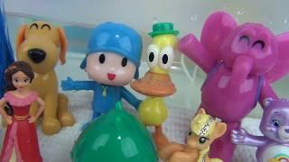 Let's Go POCOYO Bath Finger Paint with Bubbles Kids Imaginative Play