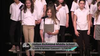 HRMS 6th Grade Winter Concert - 1/14/20