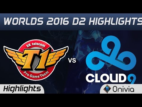 SKT vs C9 Highlights Worlds 2016 D2 SK Telecom T1 vs Cloud9