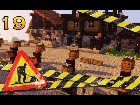 MINECRAFT Ep. #19 |  DEBUT DES TRAVAUX : PLACE, RUES ET NOUVELLE MAISON!   (Survie-Vanilla) FR