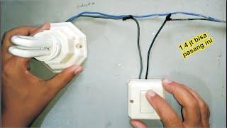 Cara pasang saklar tunggal untuk satu titik lampu | instalasi listrik sederhana