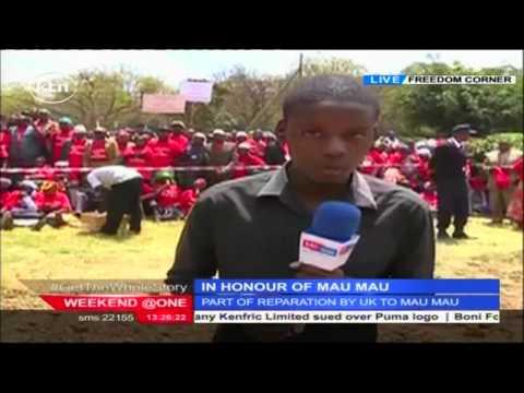 Mau Mau gathering at the freedom corner in Nairobi