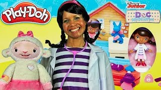 Play Doh Doc's Clinic Featuring Doc McStuffins !  || Toy Review || Konas2002