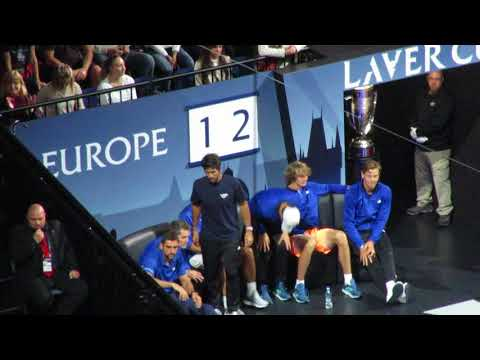 Laver Cup Team Europe's reactions during Federer vs Kyrgios (6)