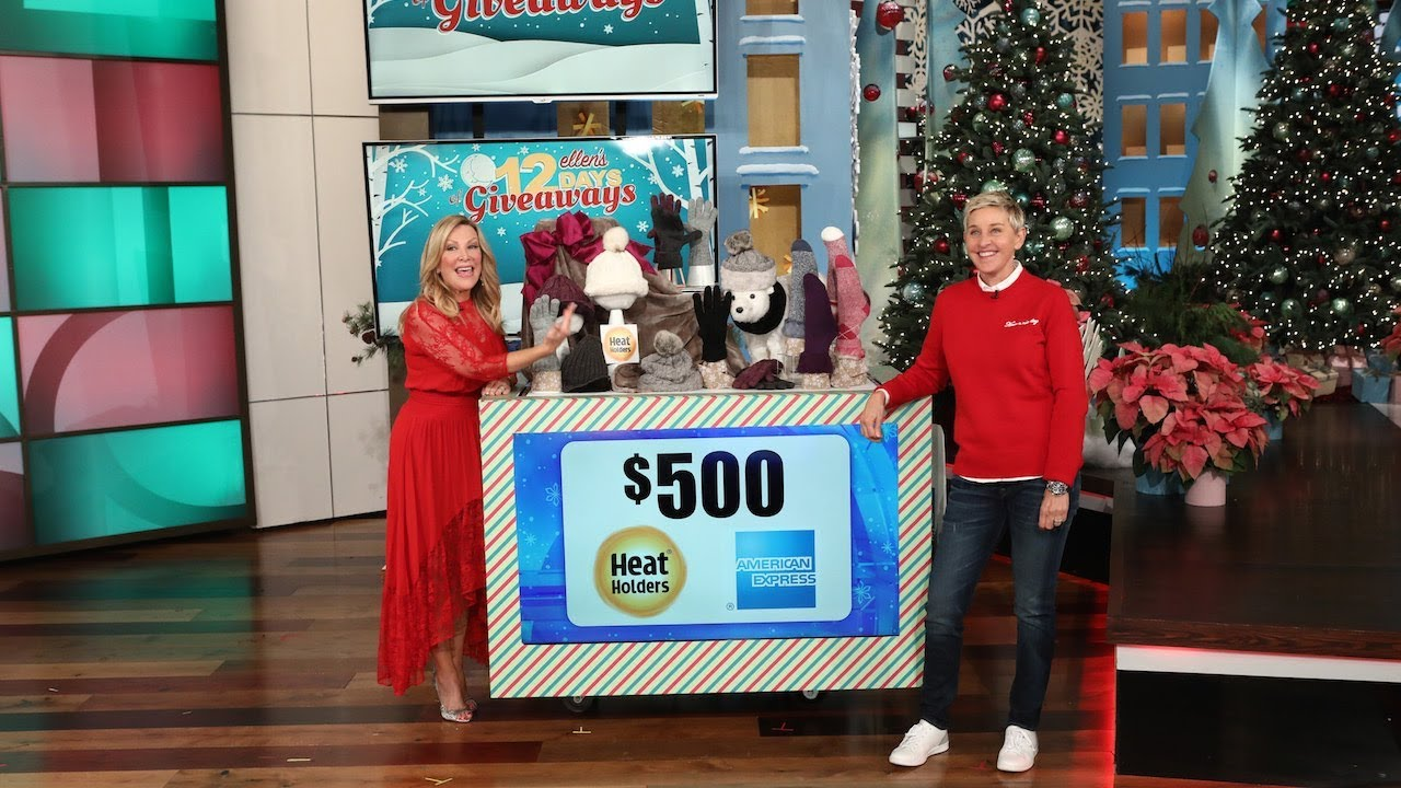 The ellen show 12 days of christmas giveaways