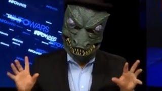 Alex Jones Explains Obamacare In Lizard Mask