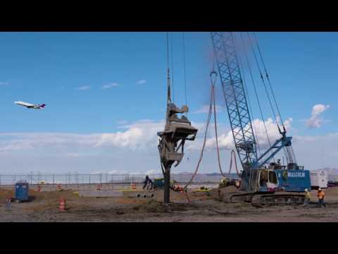 SLC Terminal Construction B-Roll (Stone Column Work)