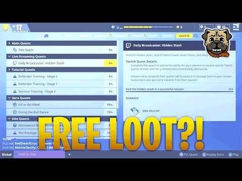 Fortnite - HOW TO GET TWITCH QUEST/LINK ACCOUNT!