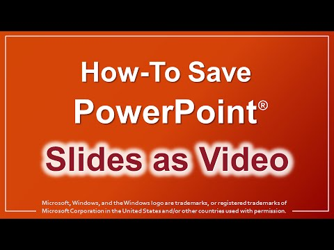 How to Save PowerPoint Slides as an MP4 Video