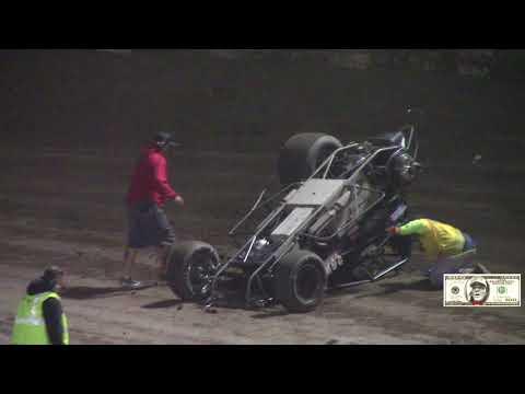 """CRA/ USAC 410 Sprint Car Main Event @ Ventura Raceway """"GNARLY CRASH"""""""