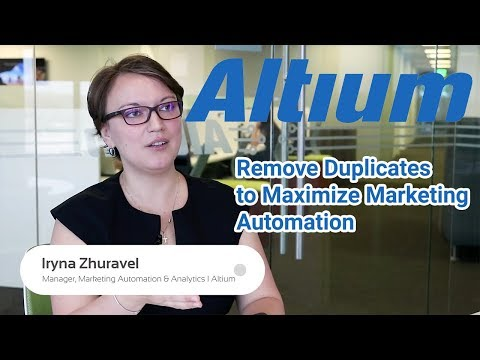 Altium Limited: Remove Duplicate Records to Boost Marketing Automation (Marketo)