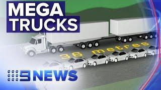 Mega trucks taking over Australia's freight industry   Nine News Australia