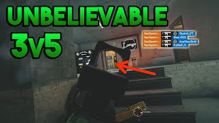 UNBELIEVABLE 3v5 - Rainbow Six Siege Gameplay