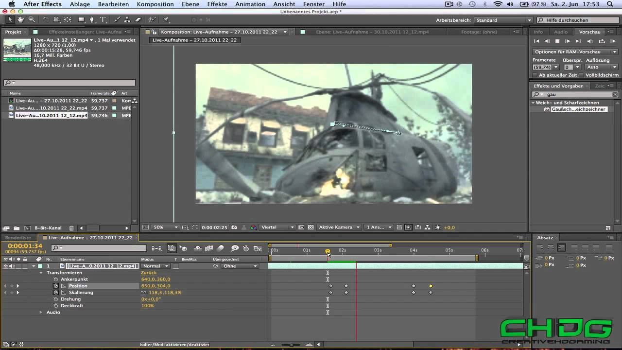 Adobe After Effects Tutorial - Zoom effect