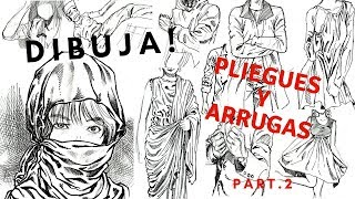 Como Dibujar pliegues y arrugas de la ropa parte 2(How To Draw)