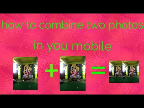 How to combine two pictures side by on iphone