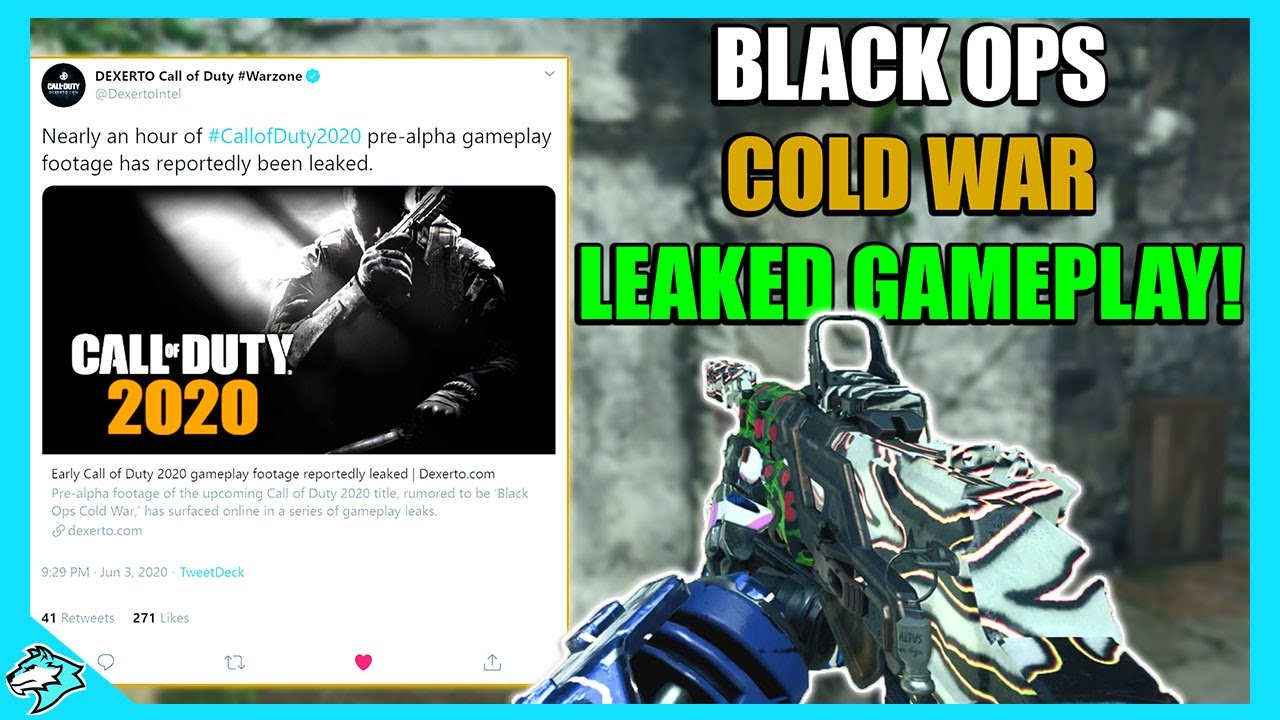 Breaking News Black Ops Cold War Leaked Pre Alpha Footage Call