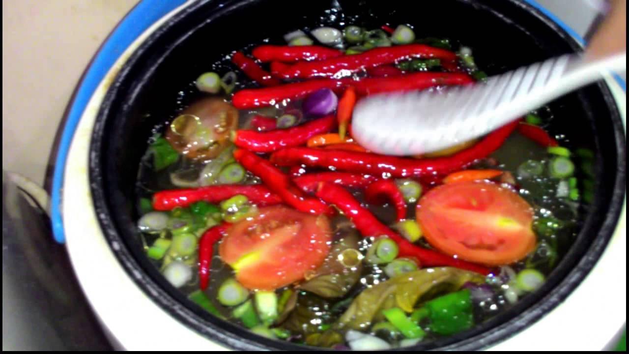 nasi liwet ikan asin peda dengan rice cooker