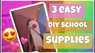 3 EASY UK  DIY SCHOOL SUPPLIES 2018