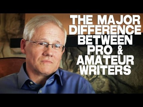 The Major Difference Between Professional And Amateur Writers by John Truby
