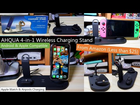 Apple iPhone/Watch/AirPods Wireless Charging Stand - Amazon (Nintendo Switch & Android Compatible)