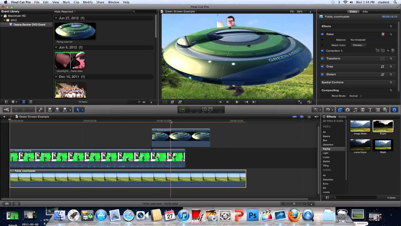 Final Cut Pro X Green Screen Tutorial - YouTube