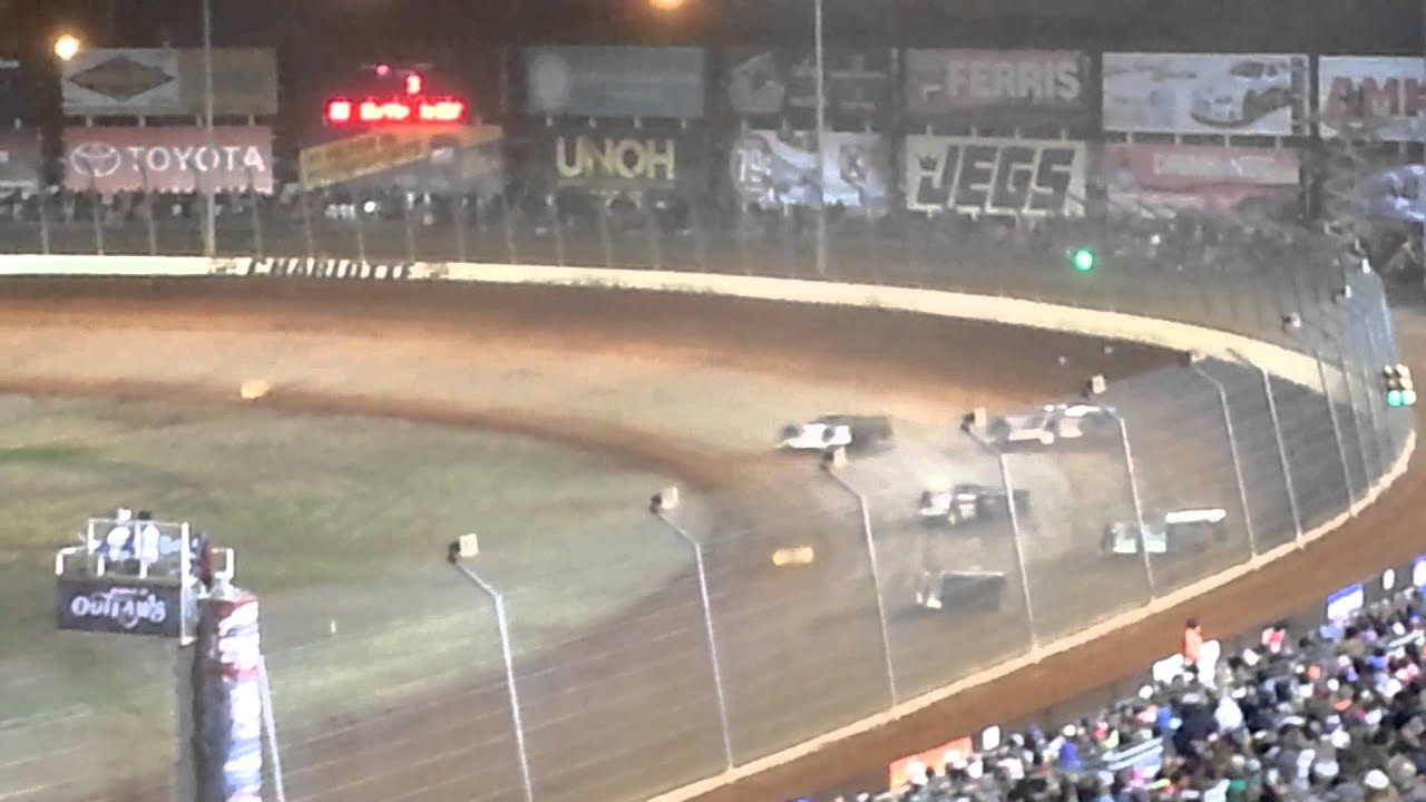 World of outlaws late models 2013 11 09 the dirt track for Charlotte motor speedway dirt track
