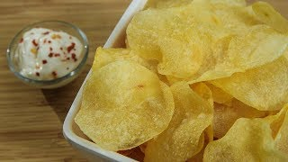 Crispy Thin Potato Chips | Potato Wafers Recipe | Potato Chips Recipe | Aloo Chips by Ruchi Bharani